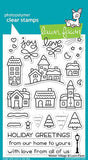 Lawn Fawn - WINTER VILLAGE - Clear Stamps Set