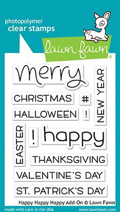Lawn Fawn - HAPPY HAPPY HAPPY  ADD ON- Clear Stamps Set