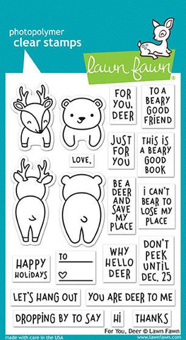 Lawn Fawn - FOR YOU, DEER - Clear Stamps Set