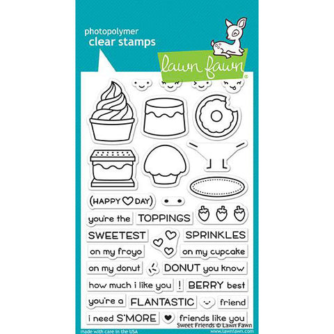 Lawn Fawn - SWEET FRIENDS - Clear Stamp Set