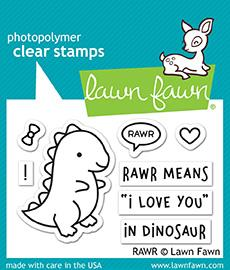 Lawn Fawn - RAWR - Clear Stamps Set