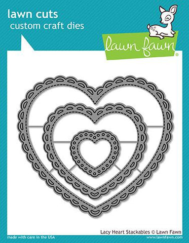 Lawn Fawn - LACY HEART Stackables - Lawn Cuts DIES