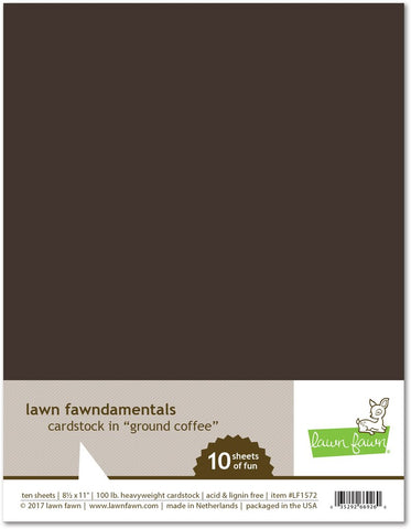 Lawn Fawn Cardstock Set - GROUND COFFEE 10pk