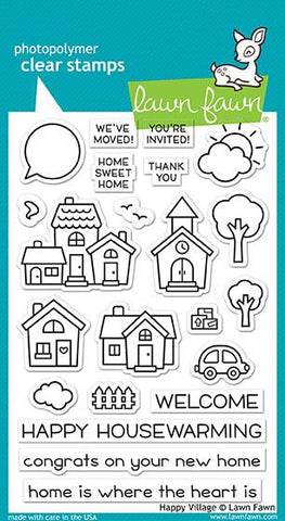 Lawn Fawn - HAPPY VILLAGE - Clear Stamps Set