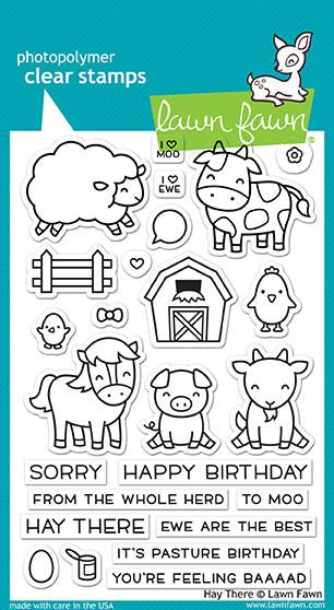 Lawn Fawn - HAY THERE - Clear Stamps Set