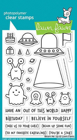 Lawn Fawn - BEAM ME UP - Clear Stamps Set