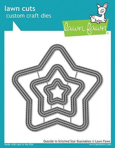 Lawn Fawn - Outside In Stitched STAR Stackables - Lawn Cuts Dies