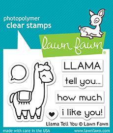 Lawn Fawn - LLAMA TELL YOU - Clear Stamps Set - PRE-ORDER