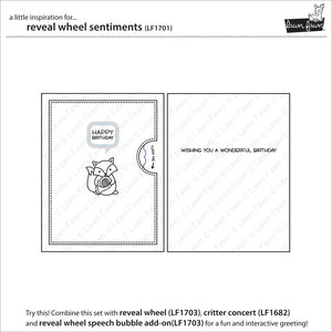 Lawn Fawn - REVEAL WHEEL SENTIMENTS - Stamp Set