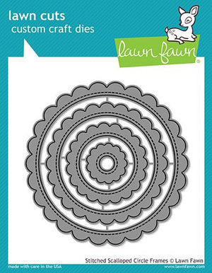 Lawn Fawn - STITCHED SCALLOPED CIRCLE FRAMES - Lawn Cuts Dies