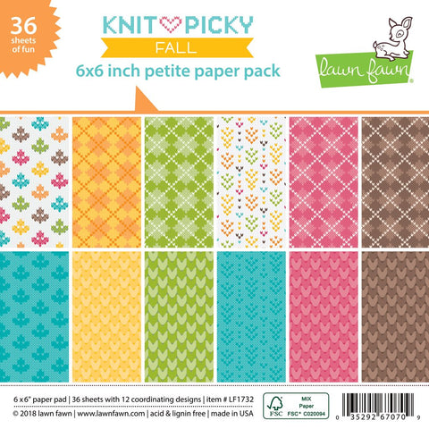 Lawn Fawn - Knit Picky FALL Petite Paper Pack 6x6 (Pre-Order - Available Aug 23rd)