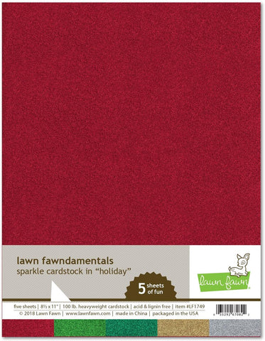 Lawn Fawn - HOLIDAY Sparkle Cardstock 8.5x11 Paper Pack