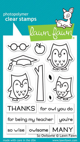 Lawn Fawn - SO OWLSOME - Stamp set (Pre-Order - Available Aug 23rd)