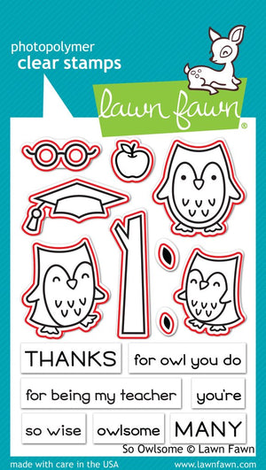Lawn Fawn - SO OWLSOME - Die set