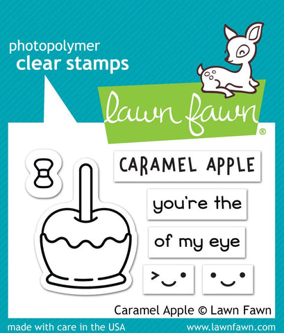 Lawn Fawn - CARAMEL APPLE Stamp Set (Pre-Order - Available Aug 23rd)
