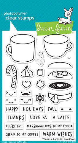 Lawn Fawn - THANKS A LATTE Stamp Set (Pre-Order - Available Aug 23rd)