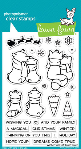 Lawn Fawn - WINTER SKIES Stamp Set