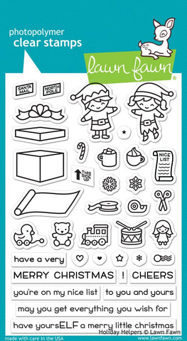 Lawn Fawn - HOLIDAY HELPERS Stamp Set (Pre-Order - Available Aug 23rd)