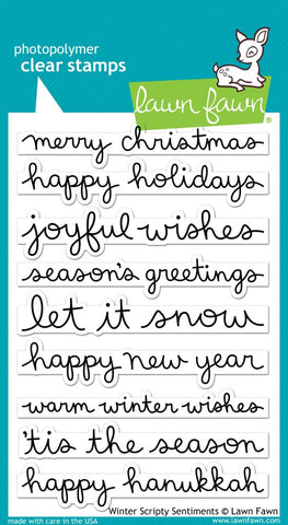Lawn Fawn - WINTER SCRIPTY SENTIMENTS - Stamp set (Pre-Order - Available Aug 23rd)