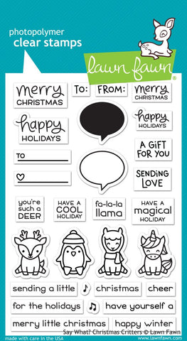 Lawn Fawn - SAY WHAT? CHRISTMAS CRITTERS - Stamp set