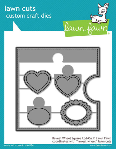 Lawn Fawn - REVEAL WHEEL SQUARE Add-On Lawn Cuts Die Set
