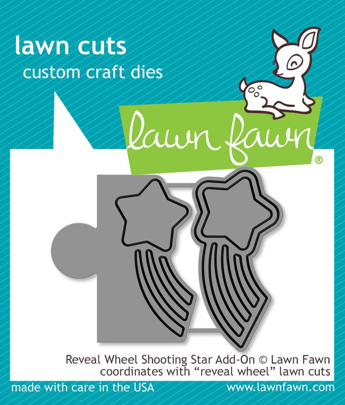 Lawn Fawn - REVEAL WHEEL SHOOTING STAR ADD-ON - Die set *