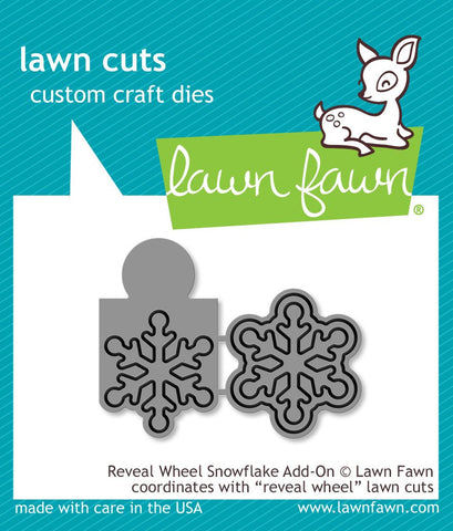 Lawn Fawn - REVEAL WHEEL SNOWFLAKE ADD-ON - Die set (Pre-Order - Available Aug 23rd)