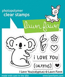 Lawn Fawn - I LOVE YOU(CALYPTUS) - Clear Stamps Set