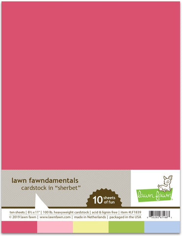 Lawn Fawn - SHERBET Cardstock 8.5x11 Paper Pack