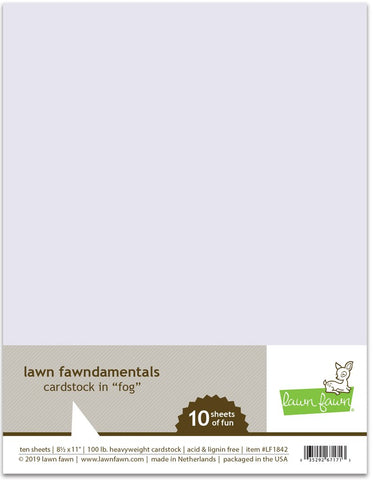 Lawn Fawn - FOG Cardstock - 8.5x11 Paper Pack 10 Sheets