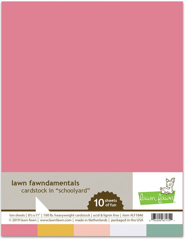 Lawn Fawn - SCHOOLYARD Collection Cardstock - 8.5x11 Paper Pack 10 Sheets *