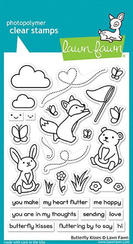 Lawn Fawn - BUTTERFLY KISSES - Clear Stamps Set - PRE-ORDER