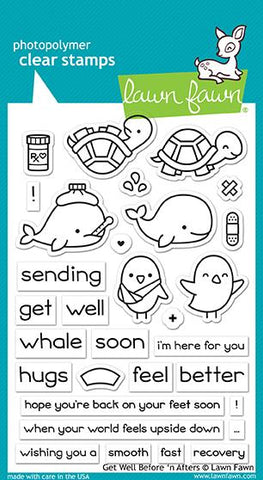 Lawn Fawn - GET WELL Before 'n Afters - Clear Stamps Set - PRE-ORDER