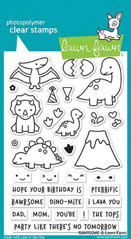Lawn Fawn - RAWRSOME - Clear Stamps Set - PRE-ORDER