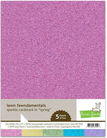 Lawn Fawn - SPRING Sparkle Cardstock 8.5x11 Paper Pack