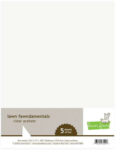 Lawn Fawn - ACETATE - 5 Sheet Pack