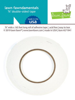 Lawn Fawn - DOUBLE SIDED TAPE 1/8 IN wide - 165 Ft Long