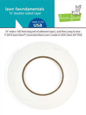 Lawn Fawn - DOUBLE SIDED TAPE 1/4 IN wide - 165 Ft Long