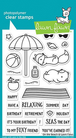 Lawn Fawn - On the Beach - Stamp Set