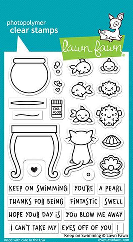 Lawn Fawn - Keep On Swimming - Stamp Set