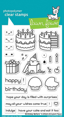 Lawn Fawn - Birthday Before n Afters - Stamp Set