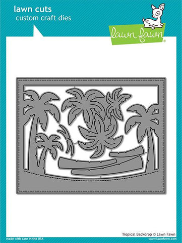 Lawn Fawn - TROPICAL Backdrop - Die Set