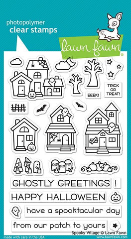 Lawn Fawn - SPOOKY VILLAGE - Clear Stamps set - Pre-Order