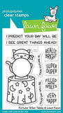Lawn Fawn - FORTUNE TELLER TABBY - Clear Stamps set