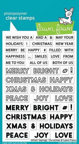 Lawn Fawn - Offset Sayings: CHRISTMAS - Clear Stamps set - 30% OFF!