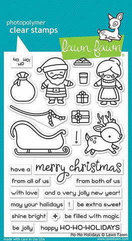 Lawn Fawn - HO-HO HOLIDAYS - Clear Stamps Set