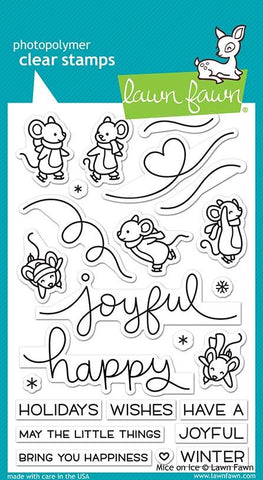 Lawn Fawn - MICE ON ICE - Clear Stamps Set - 25% OFF!