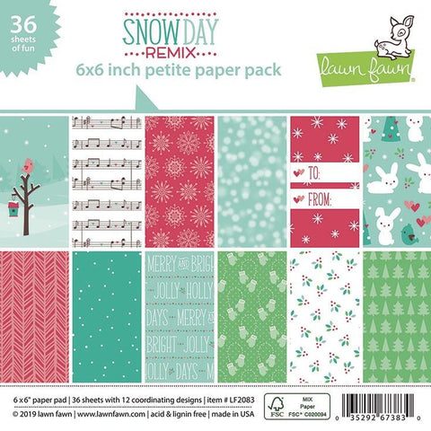Lawn Fawn - SNOW DAY REMIX - Petite Paper Pack 6x6