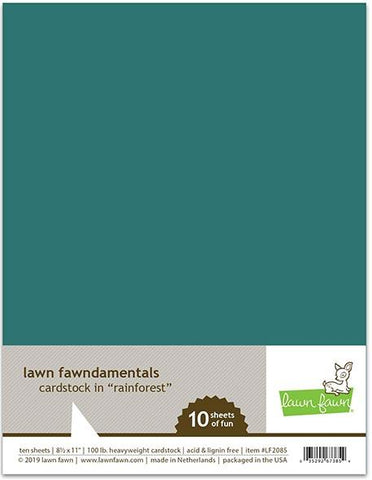 Lawn Fawn - RAINFOREST Cardstock 8.5X11 Paper Pack 10 pc