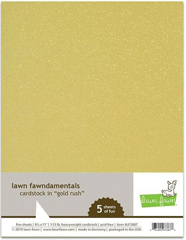 Lawn Fawn - GOLD RUSH Cardstock 8.5X11 Paper Pack 5 pc
